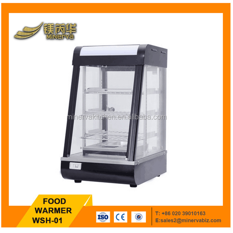 Commercial buffet food warmer 1000W food pie warmer hot display showcase cabinet