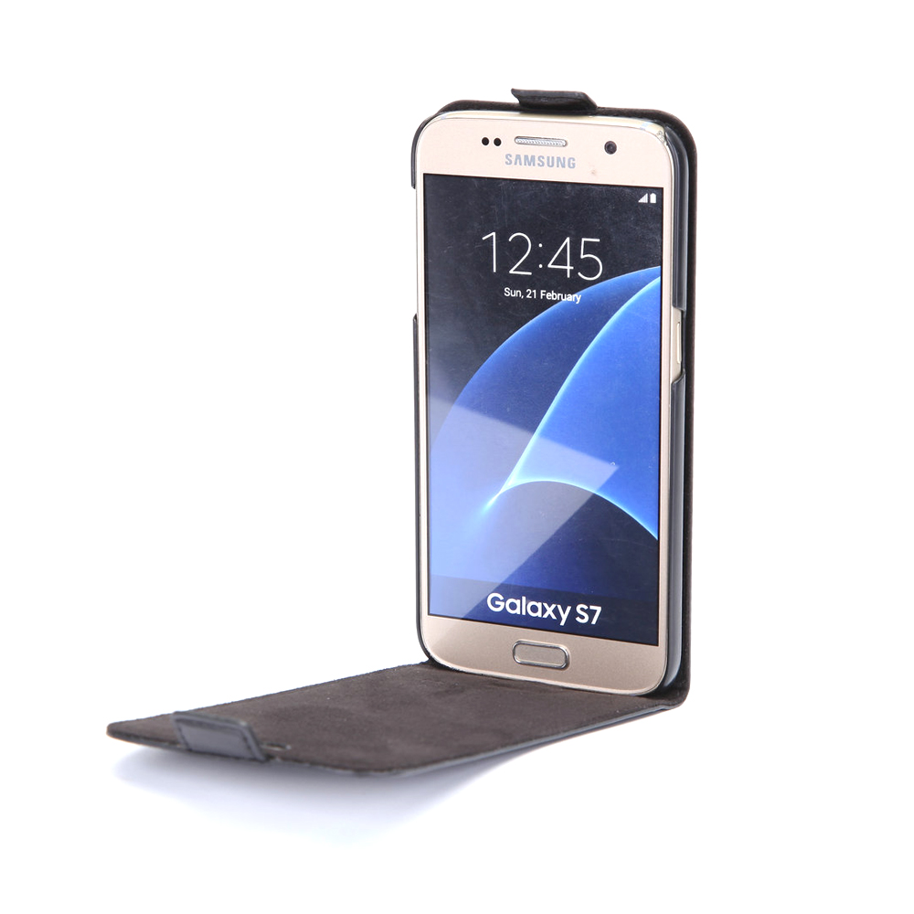 2017 hot selling products leather mobile phones case for samsung galaxy s7 flip cover for android phone accessories