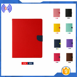 Dual Color Wallet Leather case for ipad Mini, Free stand Leather Covers for ipad Mini