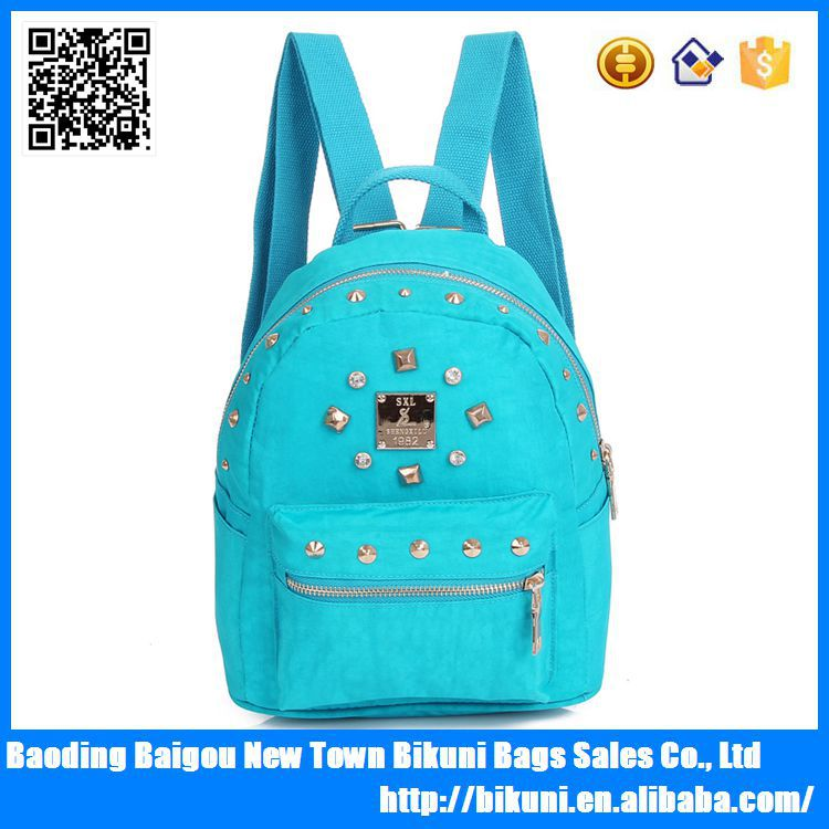 2015 Fashionable cheap nylon high school cute backpack for teen girls