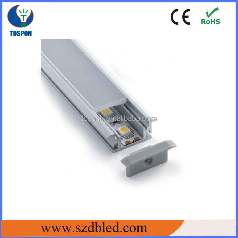 LED edge/coving strip light aluminium profile