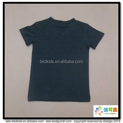 BKD GOTS organic cotton v neck little kids t-shirts