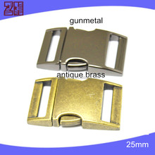 Gold and brass side release buckle wholesale,quick release buckle for pet collar,dog collar buckle