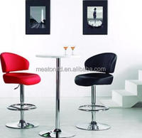 Swivel industrial stool with adjustable height commercial pu bar chair CL - 7023