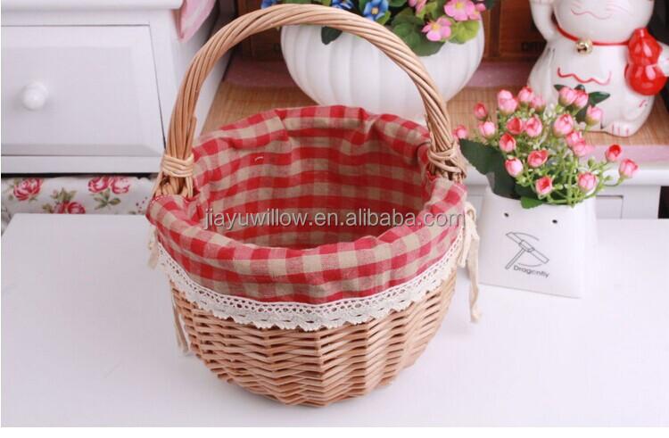 Baby Gift Baskets Empty : Handmade purple mini easter egg basket wicker fruit