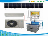 Home use 100% solar air conditioner assist people living in places short of power supply enjoying air conditioner freely and eco