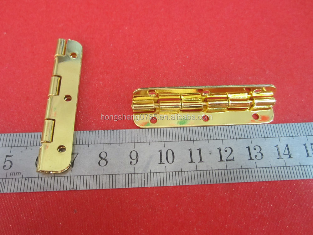 90 degree gold color metal hinge for wooden box/jewelry box hinge wholesale