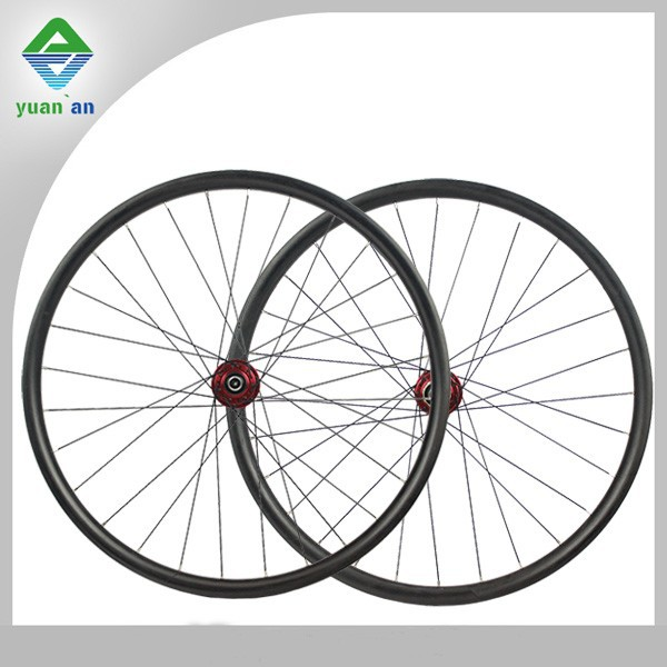 lighting components 22mm carbon wheels toray carbon hookless carbon fiber mountain bike wheels