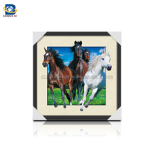 Wholesale/Customized stunning 3D,5D lenticular picture with horse ,3D flip picture,Animated Posters