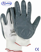 Red Nylon nitrile coated glove free samples, Wholesale Work Gloves