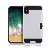 China low price accessories cell phone back cover for iphone 8 case with credit card holder.