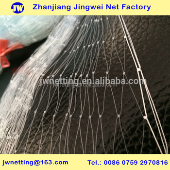 Nylon Monofilament Fishing Net with Double Multifilament Selvages
