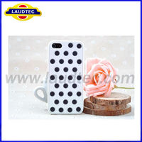 Polka Dot Design Silicon Case Cover for Iphone5, Laudtec