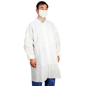 Disposable protective lab coat