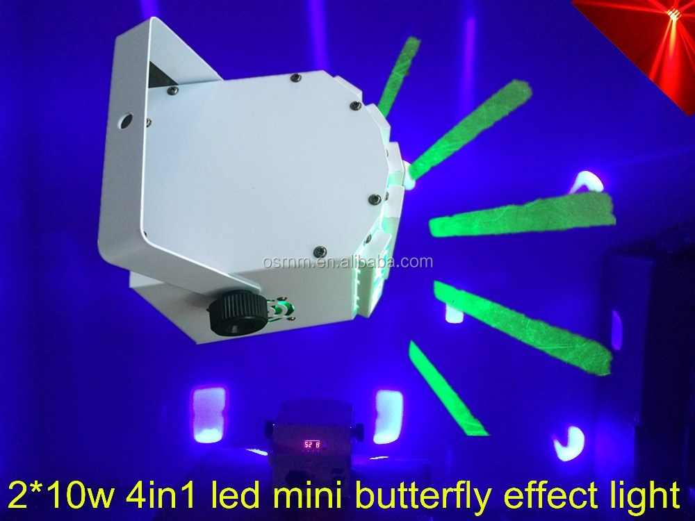 2*10w 4in1 led butterfly mini led effect light stage lighting