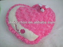 Plush soft promotion inflatable heart shape pillow