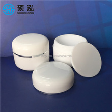 Travel Cosmetic Sample Containers with white lid ,10ml White Plastic PP Jars