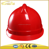 CE approved manufactures of custom industrial safety helmet with chin strap ABS with vents