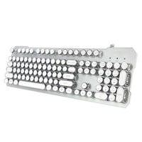 New Retro Punk Design Best Wired multimedia Mechanical keyboard with competitive price for gaming