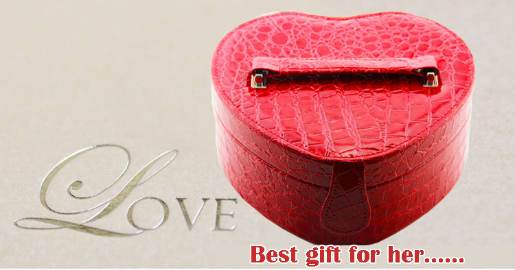 High quality fashion jewel case wholesale gift jewelry pu leather jewelry case custom made travel jewelry case