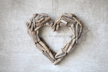 home hanging heart decoration driftwood