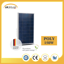 Lowest Price Per Watt AE P6-36series150w-165w Poly Solar Panel With Testing Equipment