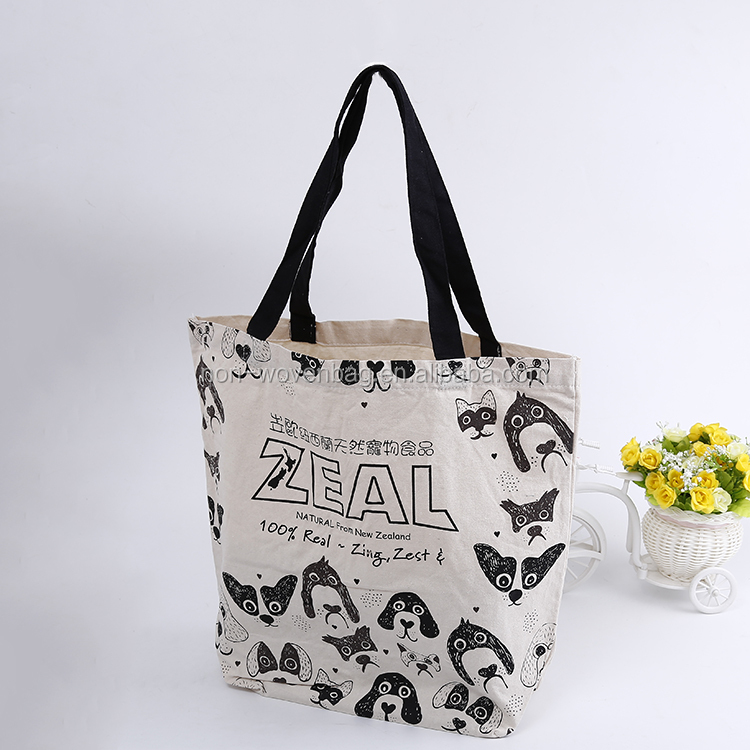 12OZ Natural color Thick cotton fabric make cotton show bags, cotton shopping tote