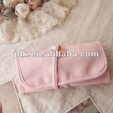Beautiful Pink Roll n Go Cosmetic Bag from Chinese Bag Factory Audited by SGS
