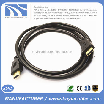 KUYIA HOT SELL Gold--plated high Speed HDMI Cable 1.4 2.0 4K with Ethernet Full HD1080P 3D for PS3 XBOX HDTV