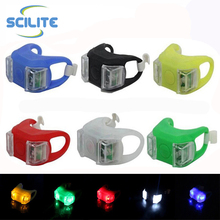 2 LED Bicycle Silicone Light Bike LED Decoration Light Warning Rear / Front Lights