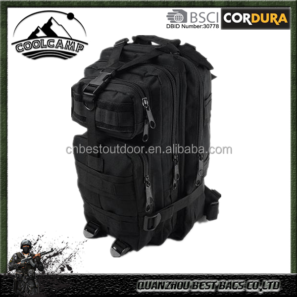 black saudi nylon mochila tactical military bag with metal