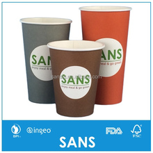 SANS 4 6 8 10 12 16 20 24oz Hot Drink Single Wall Disposable Coffee Paper Cups