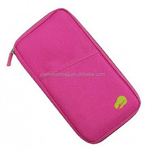 Passport Credit Id Card Holder Cash Organizer Pouch Travel Bag Wallet ,cell phone credit card holder