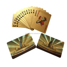 Golden silver Poker 24K Gold Foil Plated Playing Cards