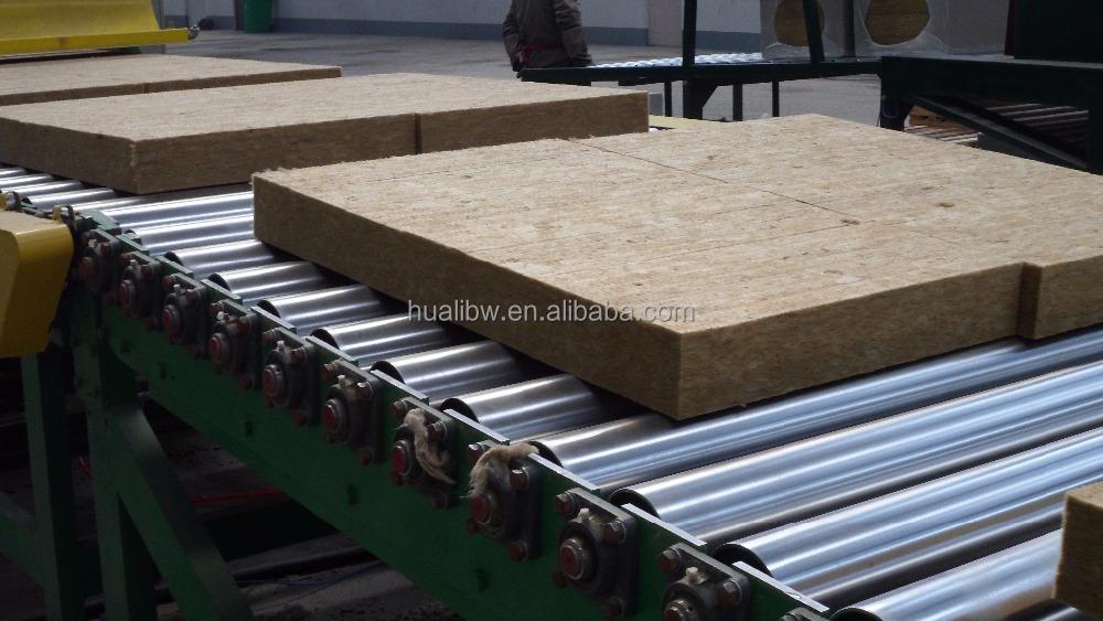 Rigid fireproof rockwool mineral wool insulation 150kg for Fireproof rockwool