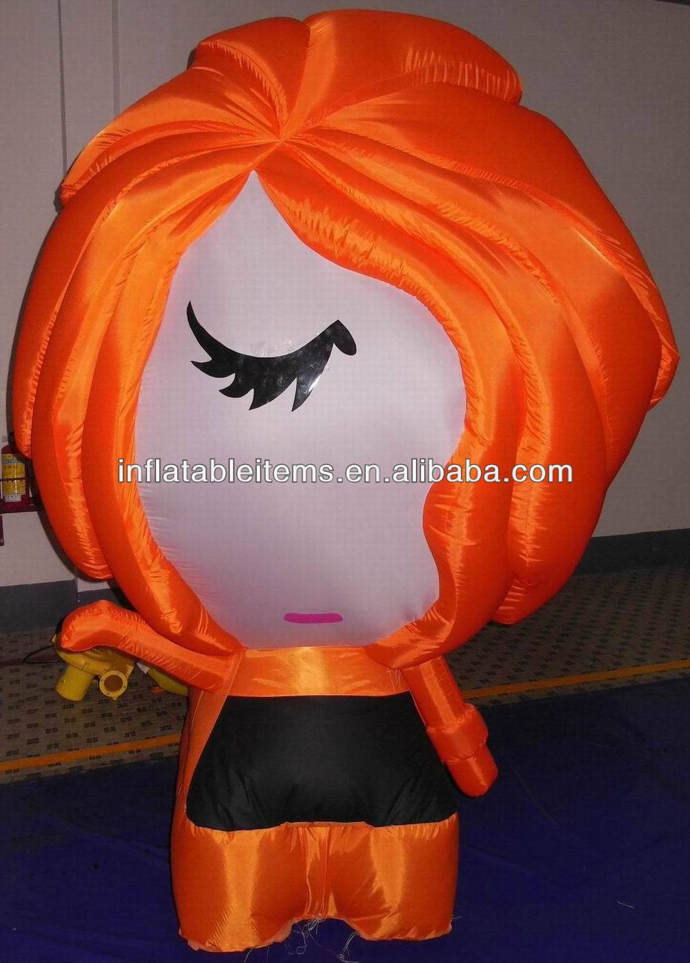 exhibition inflatable beautiful lady