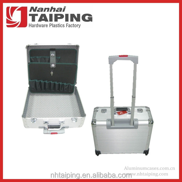 Silver Business Use Aluminum Tool Case Trolley Case