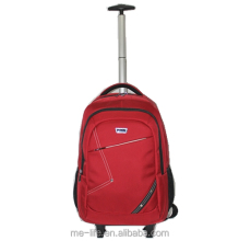 single bar upright back pack trolley backpack rolling wheeled laptop computer backpack