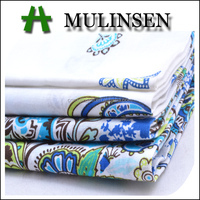 Mulinsen Textile Border Design Placement Printed 60s Cotton Voile Fabrics In Bangladesh