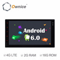 Ownice Quad Core Android 6.0 2G Ram Auto GPS navi for double din universal Built-in Wifi 4G LTE support DAB DVR