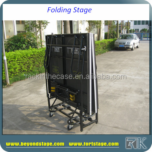 metal stage design /school play folding stage