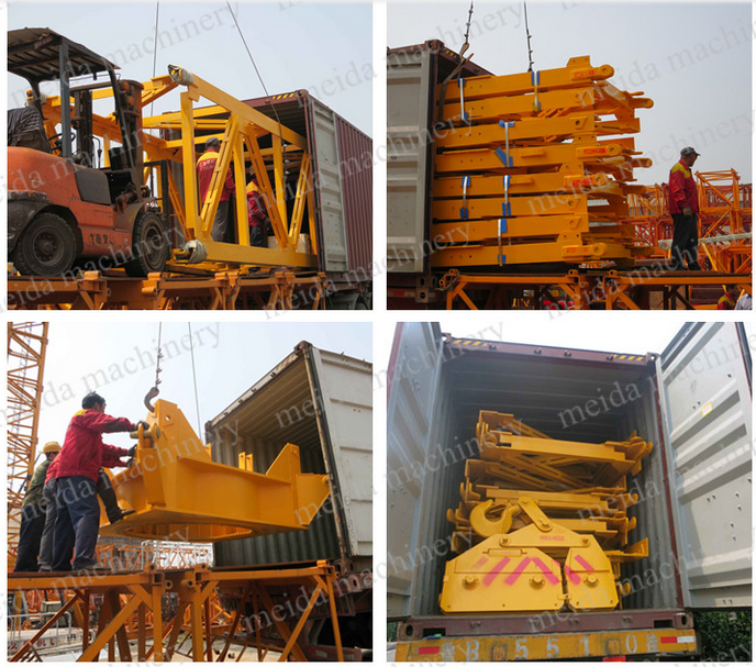 Competitive Price 10ton Electric crane 50m Jib Hammer Head Tower Crane in dubai India America