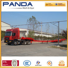 Africa customize 3 axles extendable flatbed wind blade semi trailer for sale