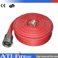 flexible rubber fire hose pipe 2.5 inch/ 3 layers fire fighting hose / heat resistant hose pipe