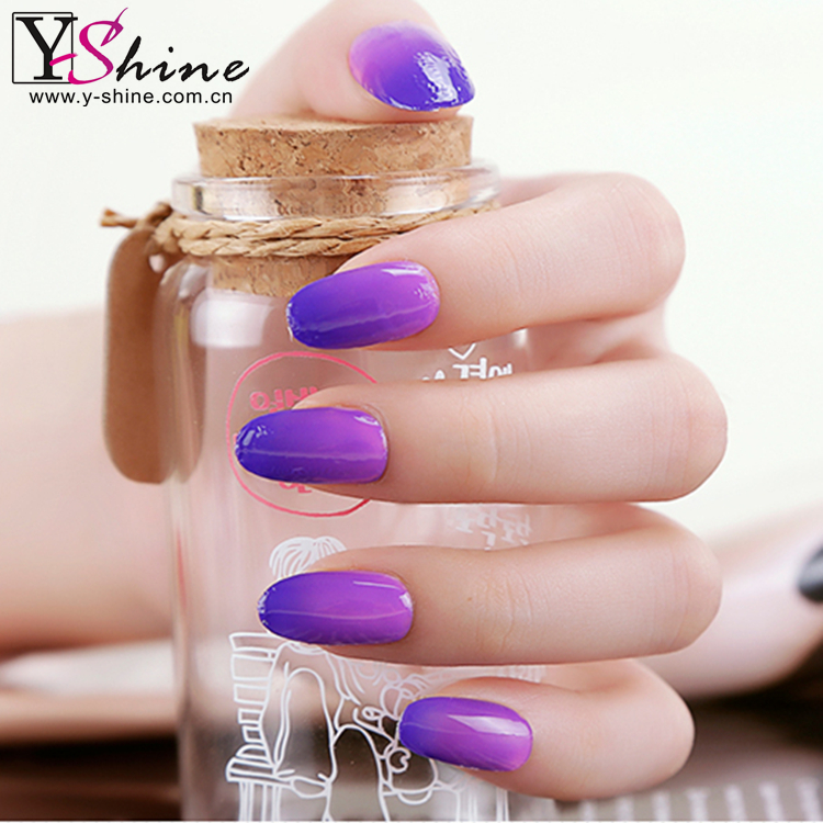 beauty and cared salon cheap wholesale nail polish color changed in LED UV <strong>gel</strong>