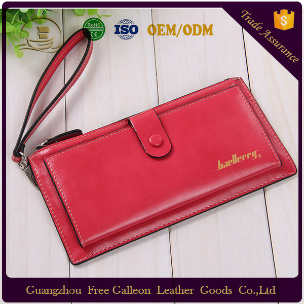 2016 Hot selling classical fashion trends PU leather women wallet purses for ladies