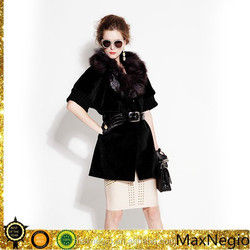 long women's long real fake fur coat wholesale in guangzhou