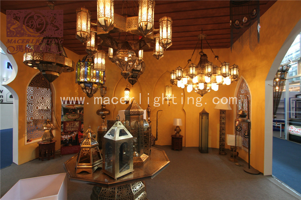 Morrocan domestic brass wall lamp