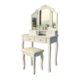 D1704 Eco-friendly MDF bedroom set home decoration modern european wardrobe dressing table designs mirrored dresser