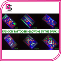 Hot sell Glowing Shiny in the Dark Sexy Body Tattoos